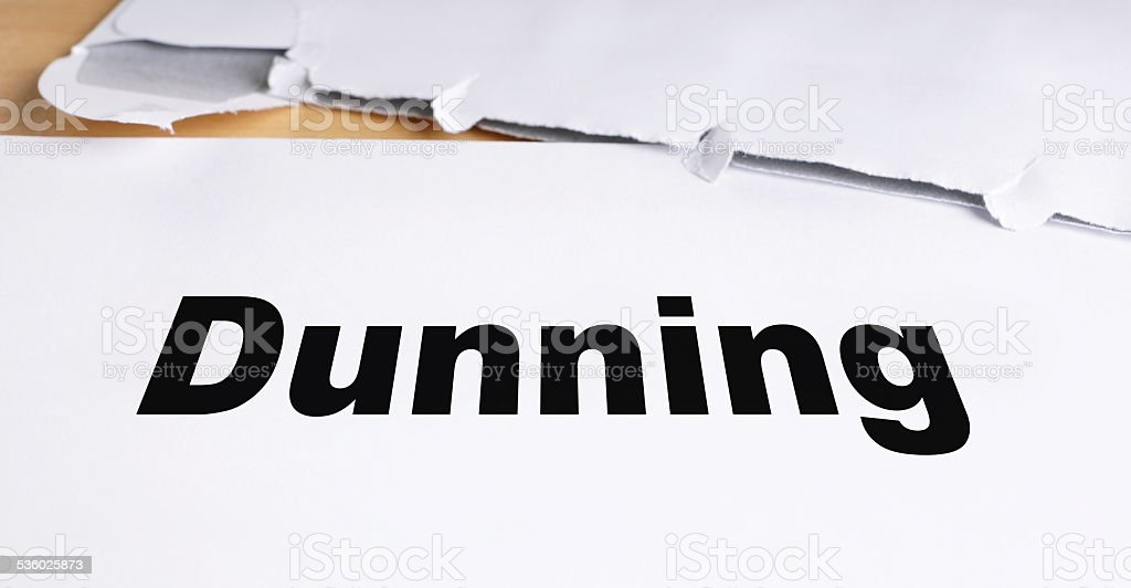 dunning letter stock photo