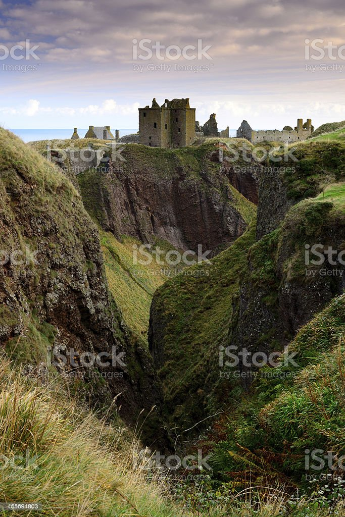Dunnottar Castle in Aberdeen, Scotland. stock photo