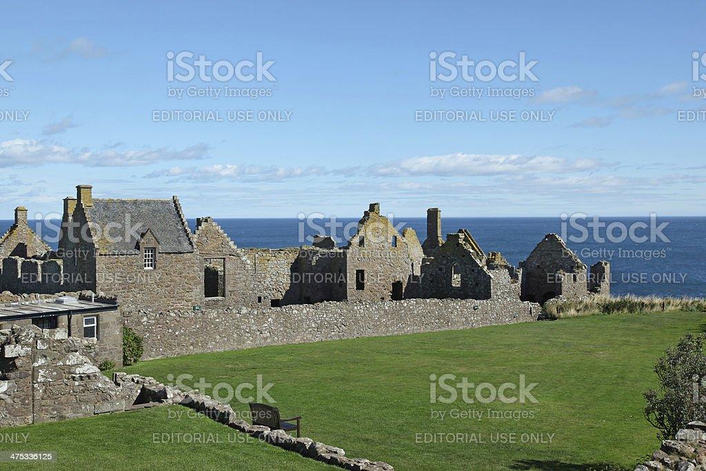 Dunnottar Castle In Aberdeen, Scotland. stock photo