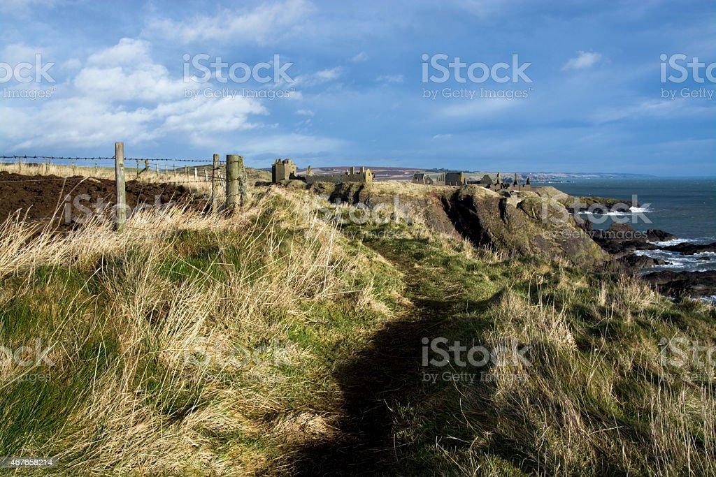 Dunnottar Castle, Scotland stock photo