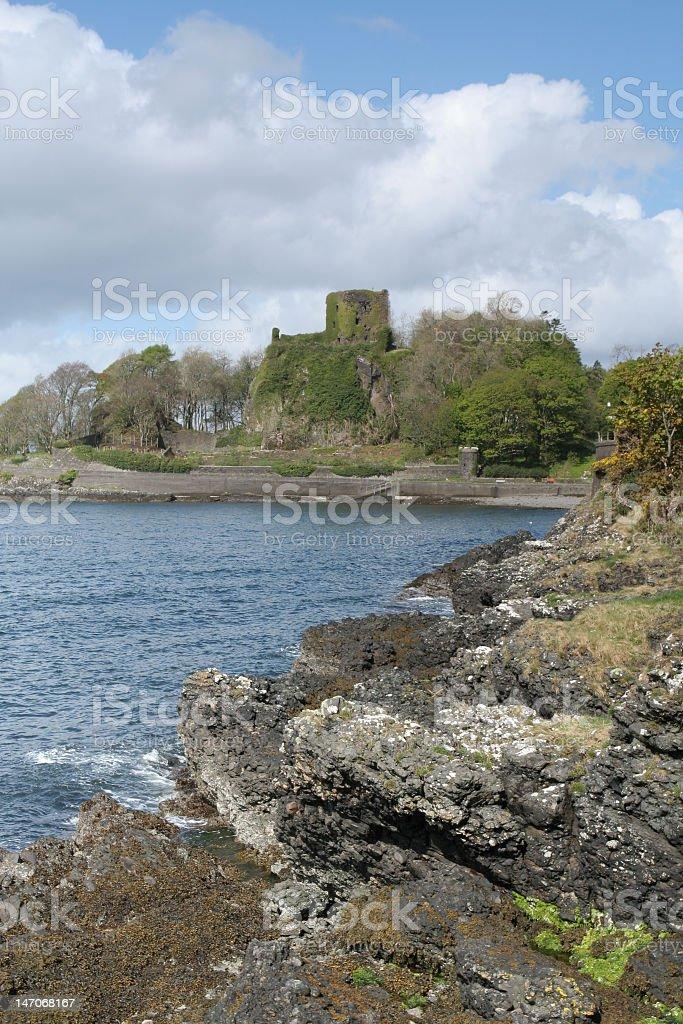 Dunollie castle stock photo