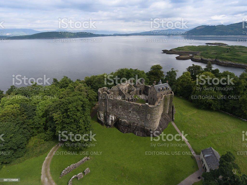 Dunstaffnage Castle stock photo