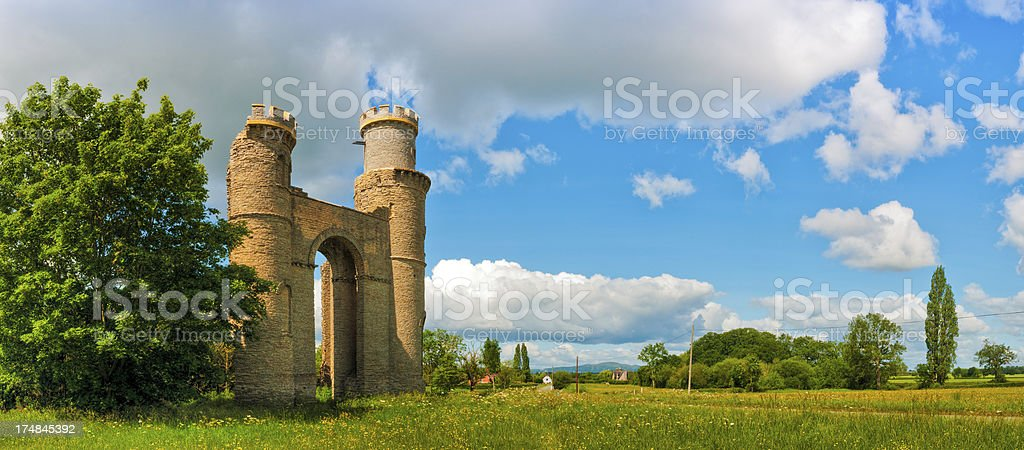 Dunstall Castle, Croome Park, Pershore, Worcestershire, UK royalty-free stock photo
