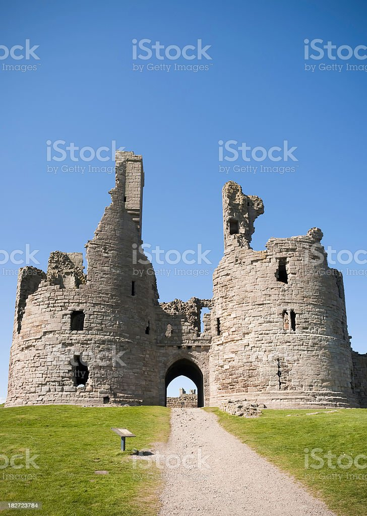 Dunstanburgh Castle gatehouse, Northumberland, UK stock photo
