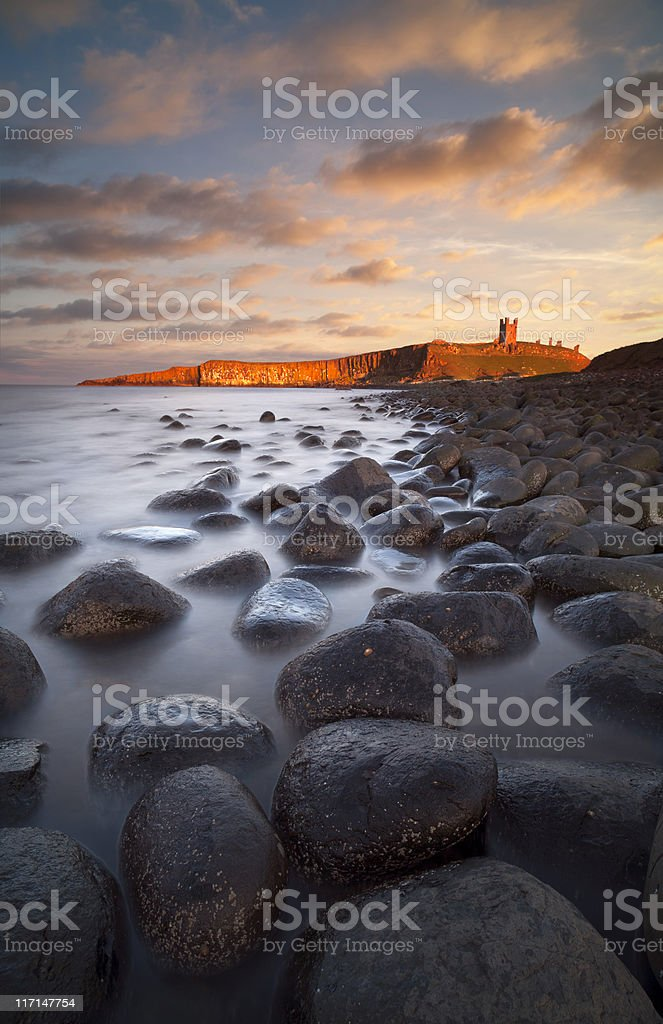 Dunstanburgh Castle royalty-free stock photo