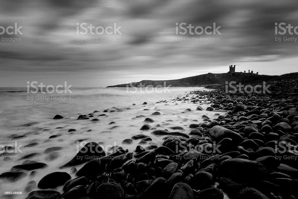 Dunstanburgh Castle stock photo