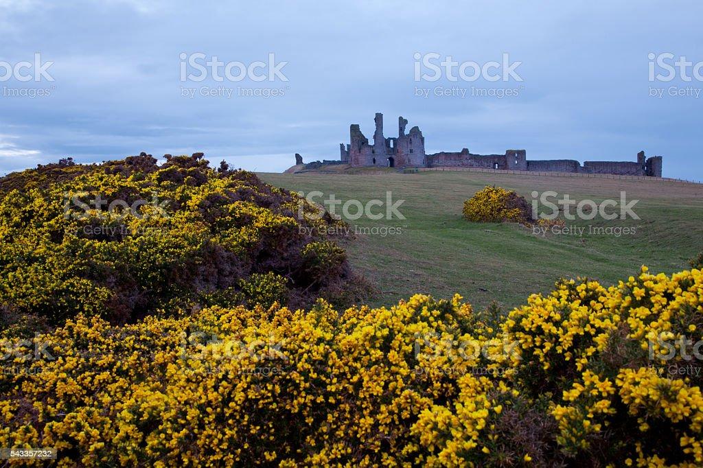 Dunstanburgh castle UK stock photo