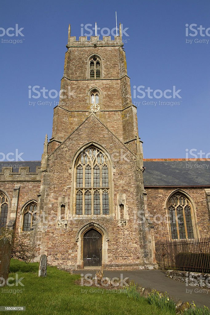 Dunster Church Somerset England royalty-free stock photo