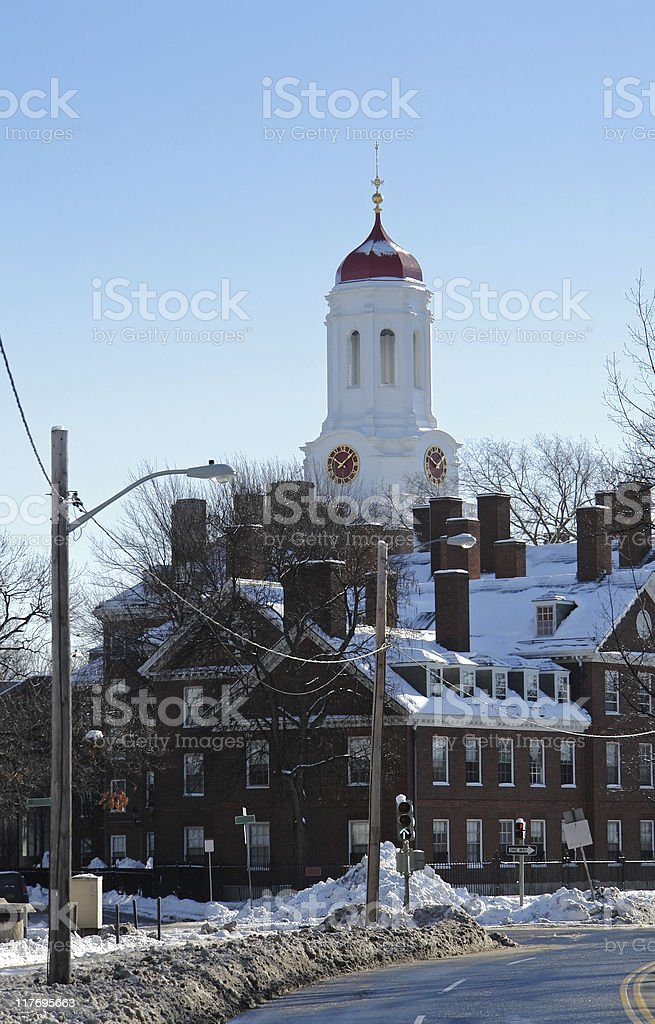 Dunster House at winter time stock photo