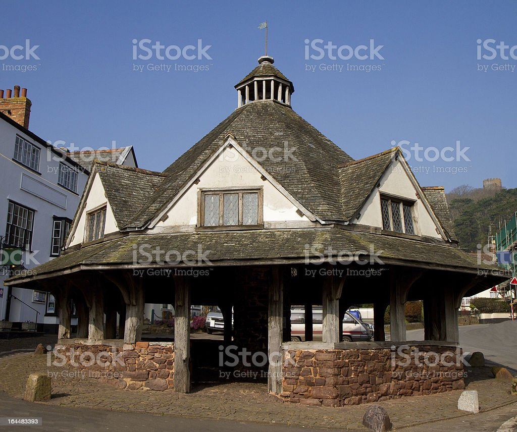 Dunster Somerset Historic Yarn Market royalty-free stock photo