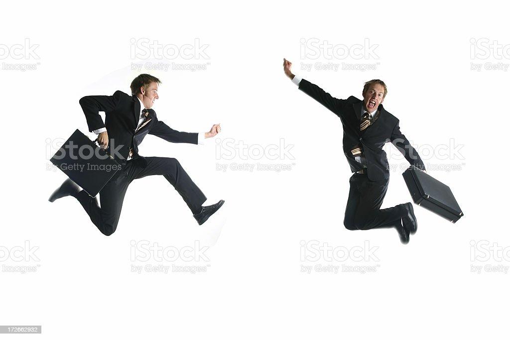 Duo Businessman - Speed royalty-free stock photo