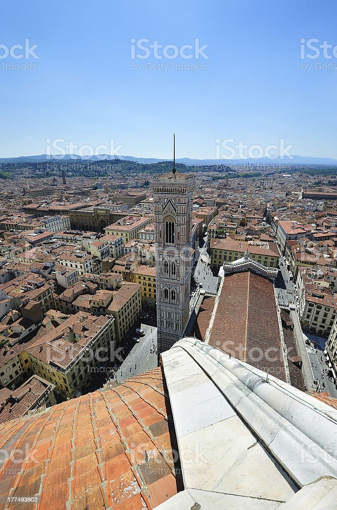 Duomo and Giotto campanila in Florence stock photo