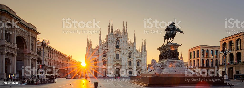 Duomo at sunrise stock photo