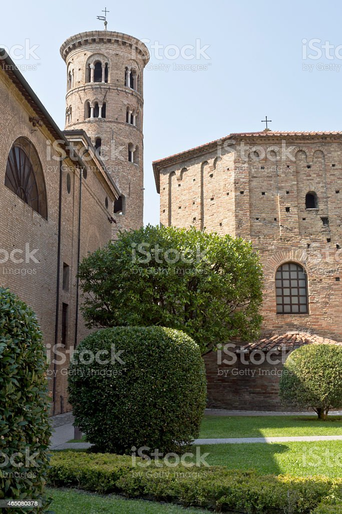 Duomo Campanile of Ravenna stock photo