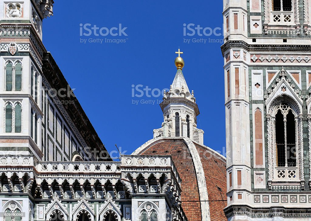 Duomo catedral in Florence stock photo