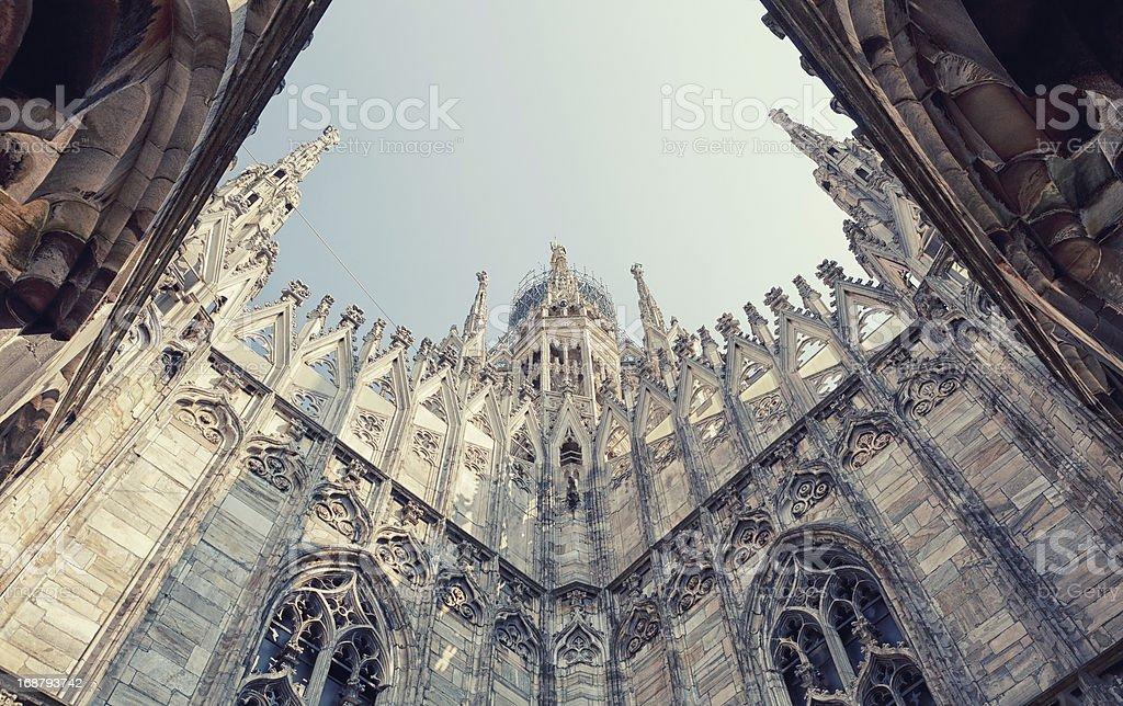 Duomo Cathedral Milan stock photo