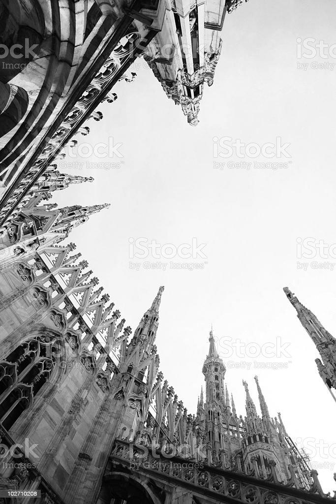 Catedral del duomo en Milán, Italia foto de stock libre de derechos