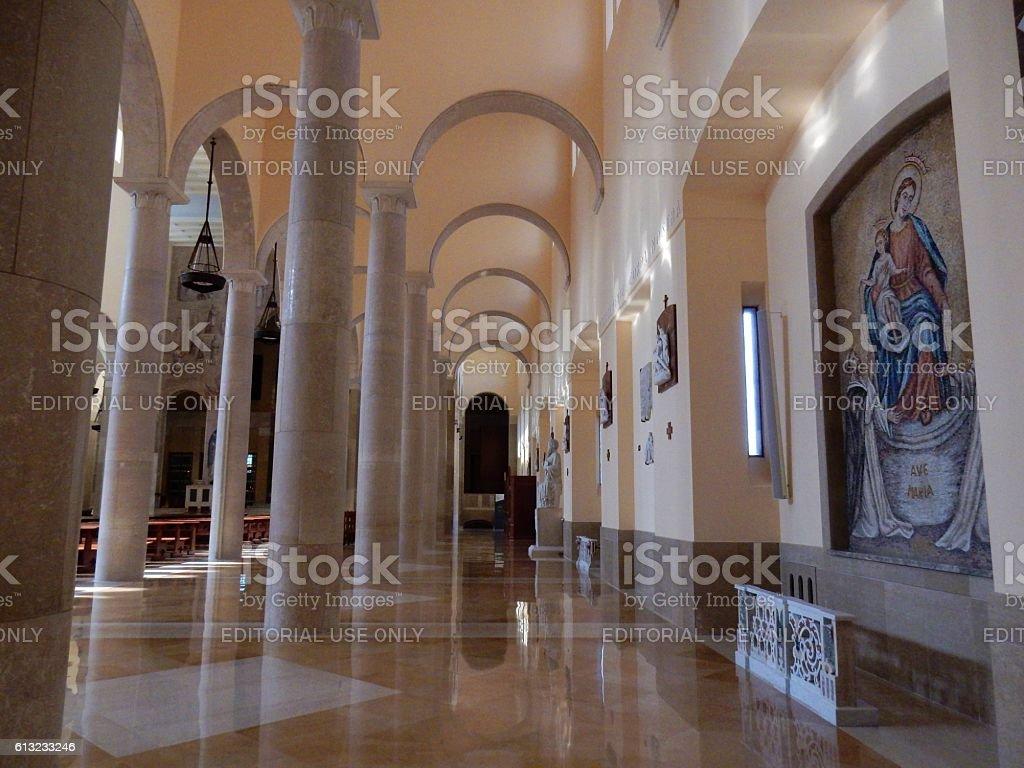 Duomo di Benevento - Navate laterali stock photo