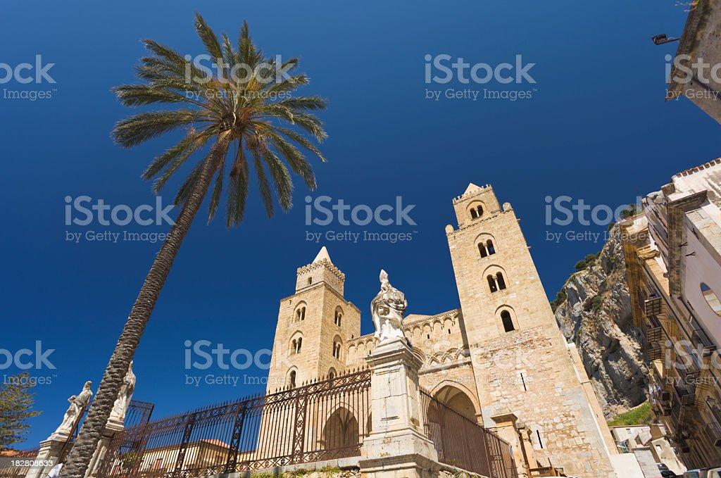 Duomo di Cefalu stock photo