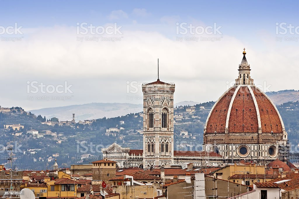 Duomo di Firenze and Fiesole, Italian Renaissance Architecture royalty-free stock photo