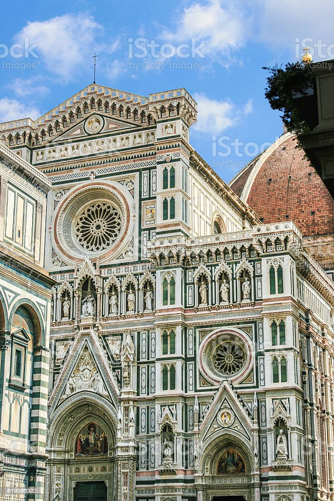 Duomo di Firenze (the Duomo or Florence Cathedral), Florence, Italy. stock photo
