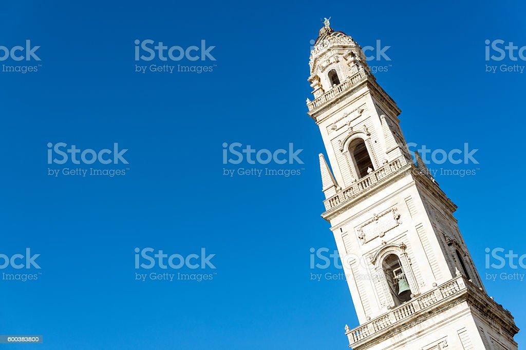 Duomo di Lecce tower (Cattedrale metropolitana Santa Maria Assunta) stock photo