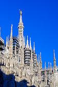 Duomo di Milano against blue sky