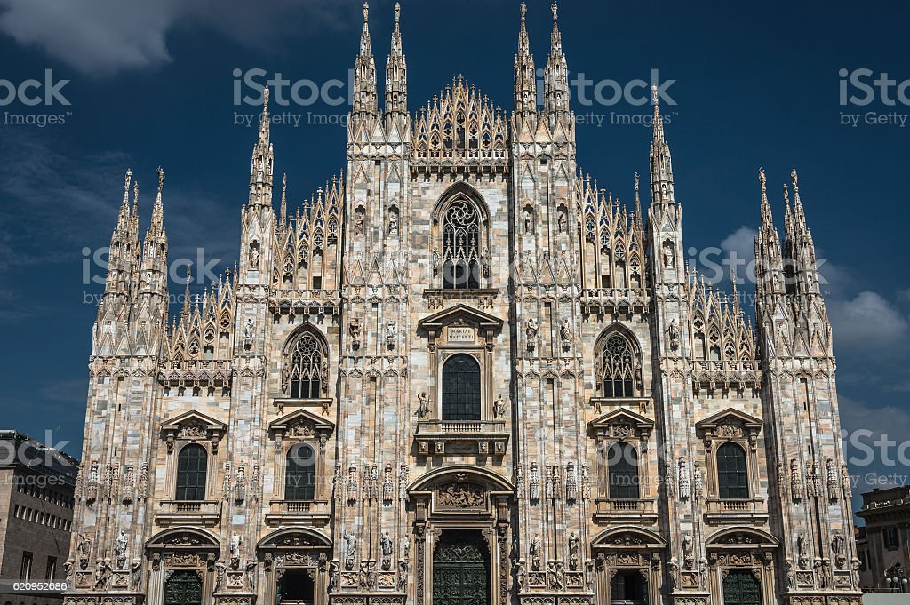 Duomo di Milano, Cathedral of Milano, Italy stock photo