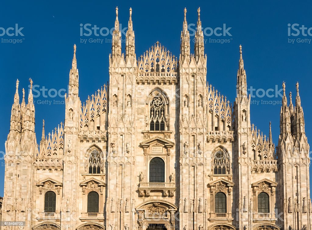 Duomo di Milano , the cathedral church of Milan, Lombardy, North stock photo
