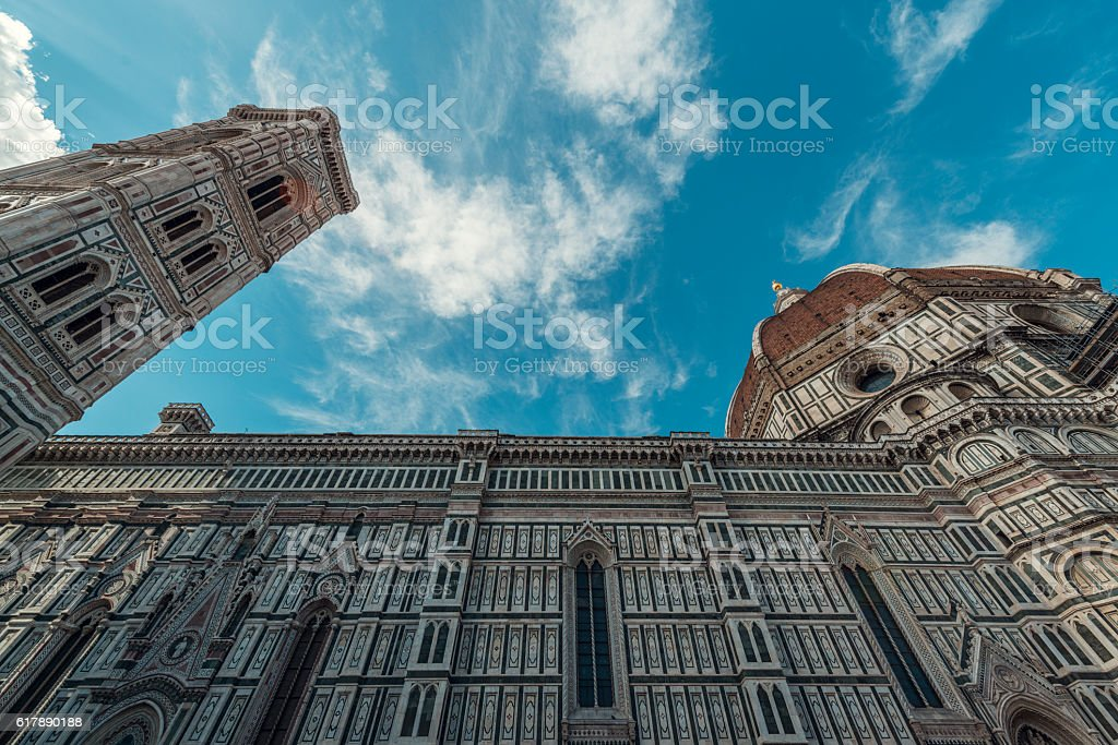 Duomo in Florence Cathedral of Santa Maria del Fiore stock photo