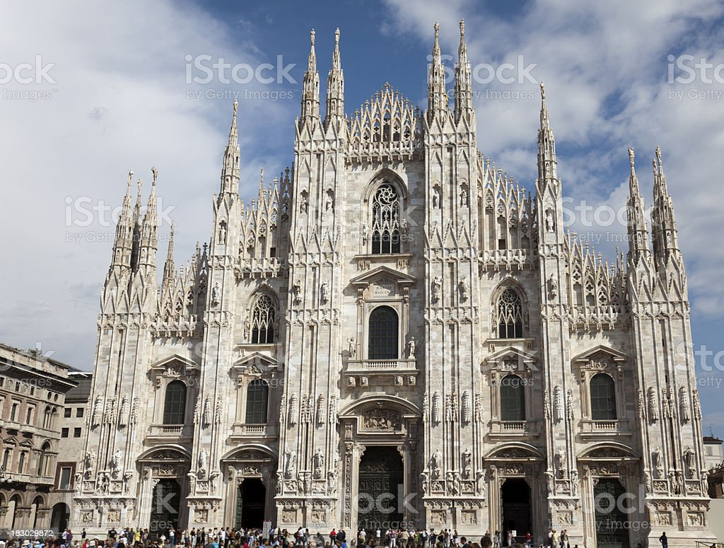 Duomo in Milan royalty-free stock photo