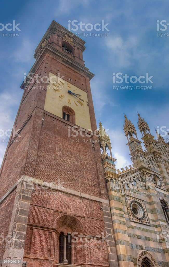Duomo (Cathedral), Monza, Lombardy, Northern Italy stock photo