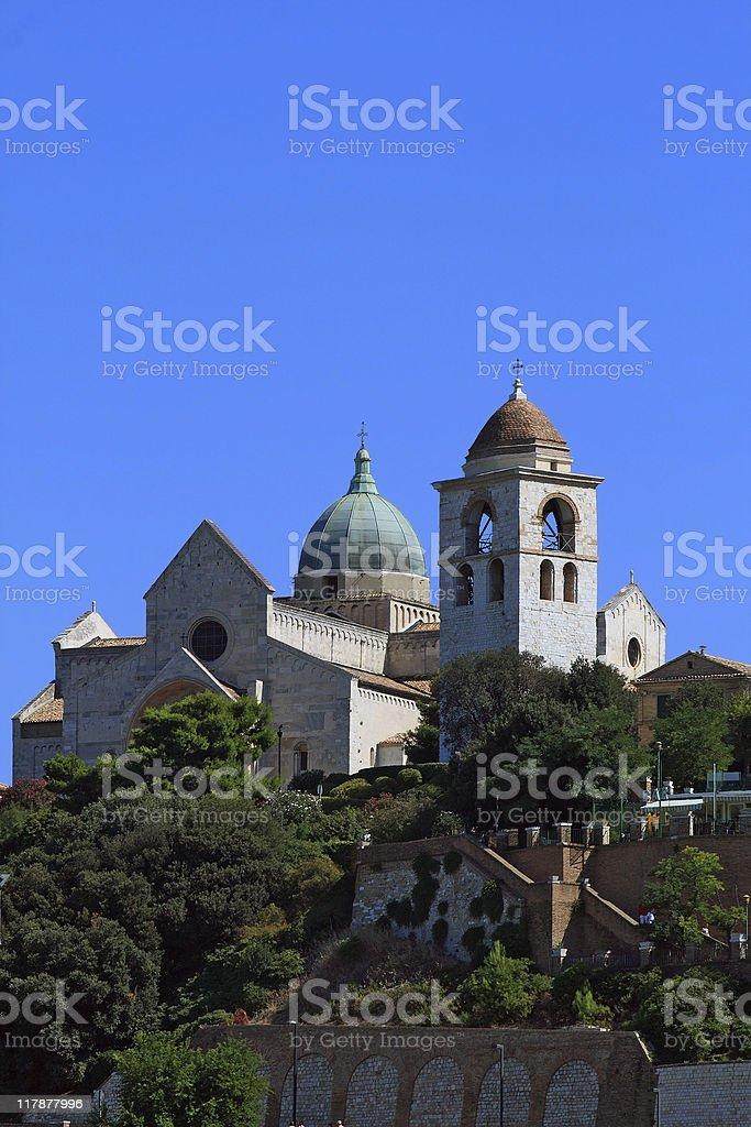 Duomo of Ancona stock photo