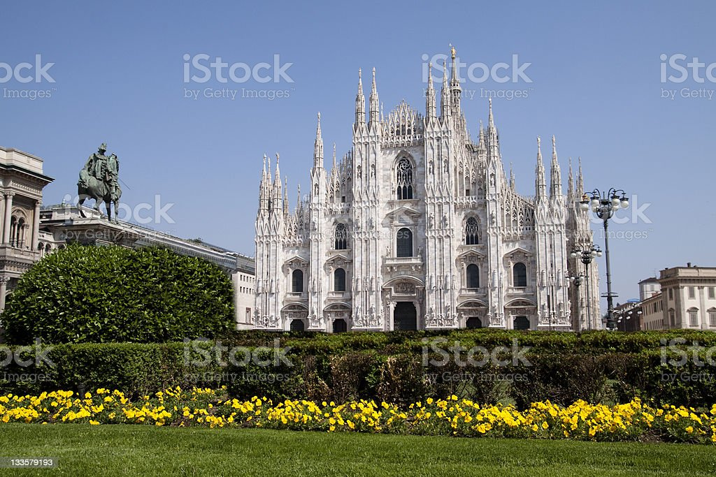 Duomo of Milan, Cathedral - Lombardia, Italy stock photo