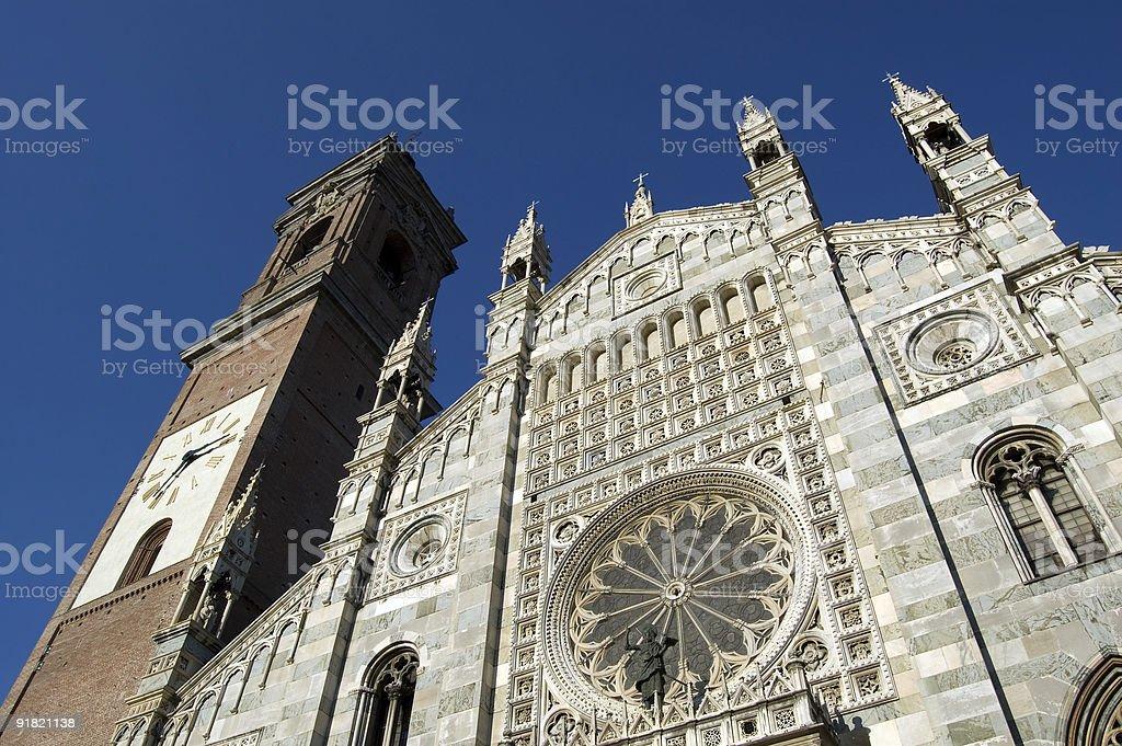Duomo of Monza facade royalty-free stock photo