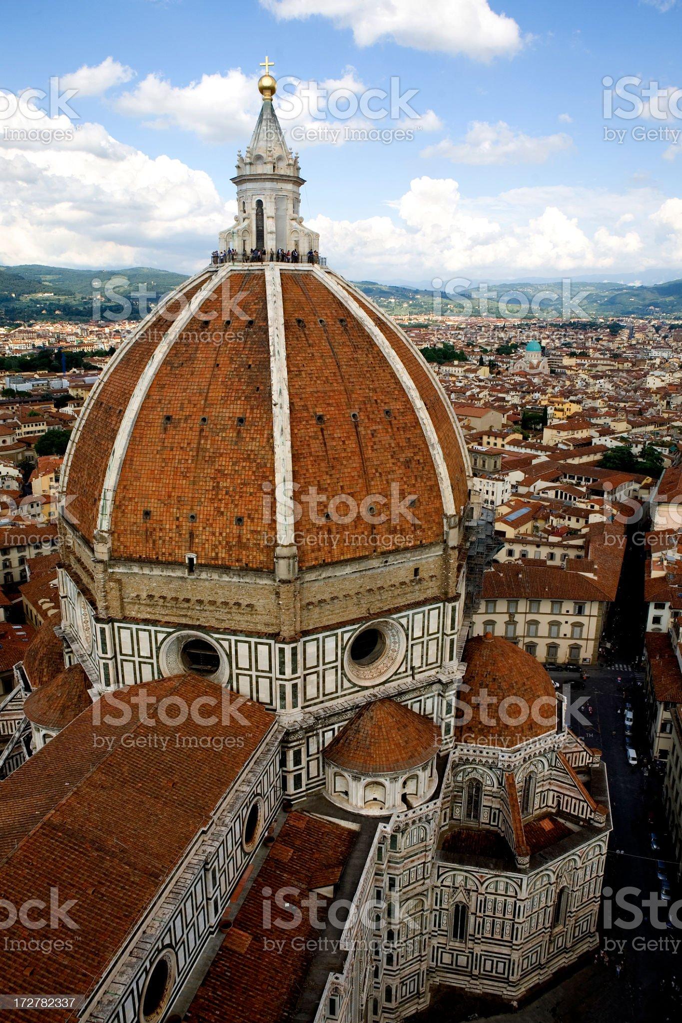 Duomo of The Basilica di Santa Maria del Fiore royalty-free stock photo