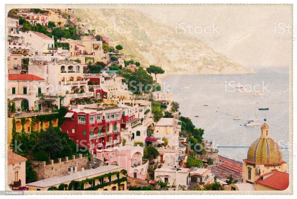 Duomo Santa Maria Assunta - Vintage Postcard royalty-free stock photo