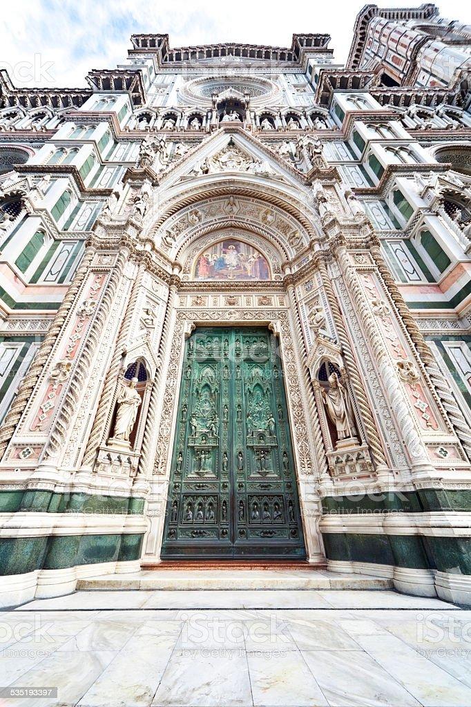 Duomo Santa Maria del Fiore --Bronze Doors stock photo