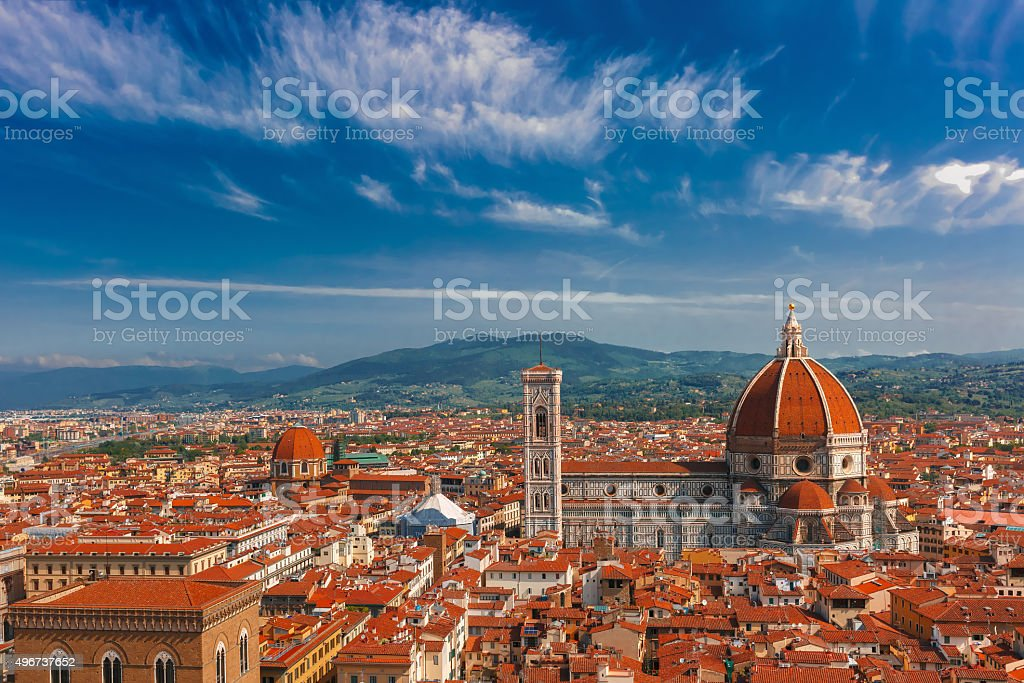 Duomo Santa Maria Del Fiore in Florence, Italy stock photo
