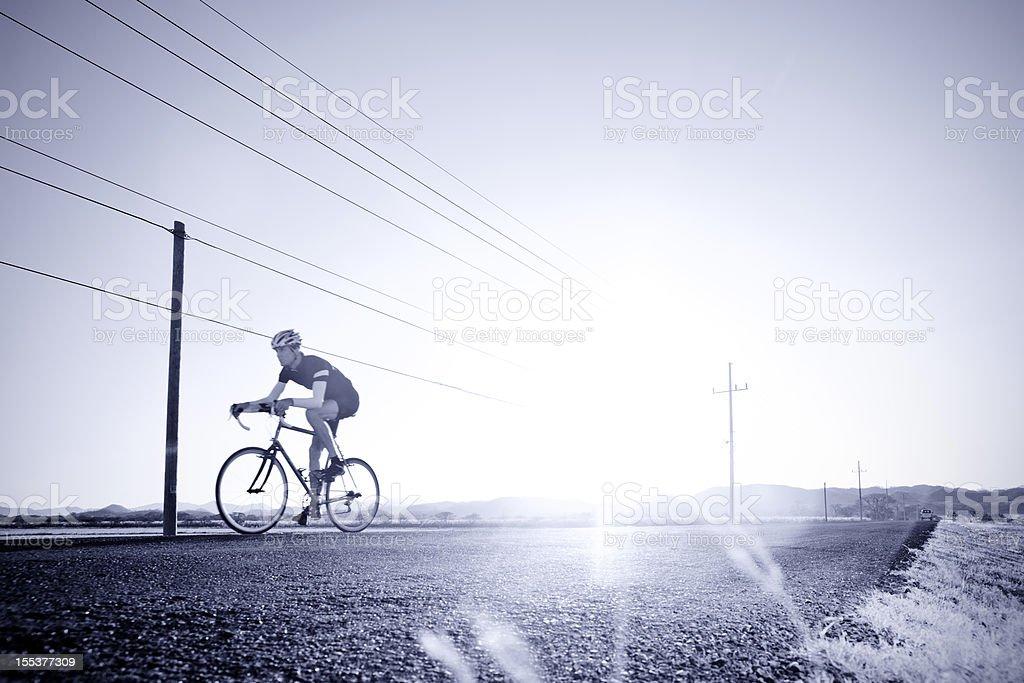 Duotone cycling image royalty-free stock photo