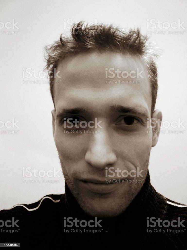 Duotone Portrait stock photo