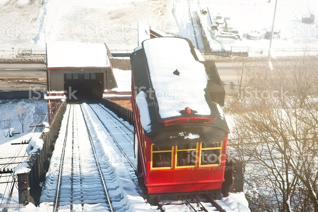 Duquesne Incline Going Down stock photo