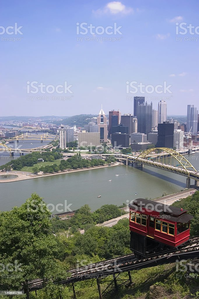 Duquesne Incline, Pittsburgh stock photo