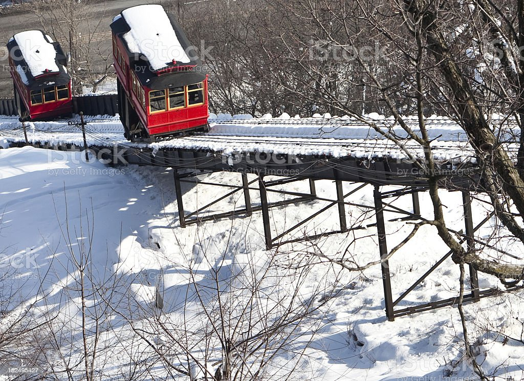 Duquesne Inclines in Pittsburgh, Pennsylvania stock photo