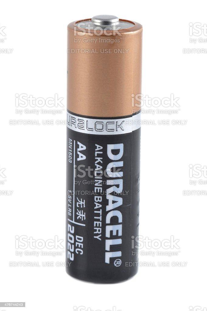 Duracell AA Battery stock photo