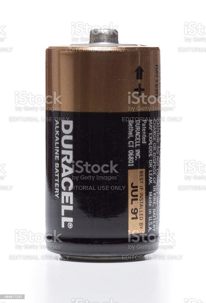 Duracell alkaline battery july 1991 stock photo