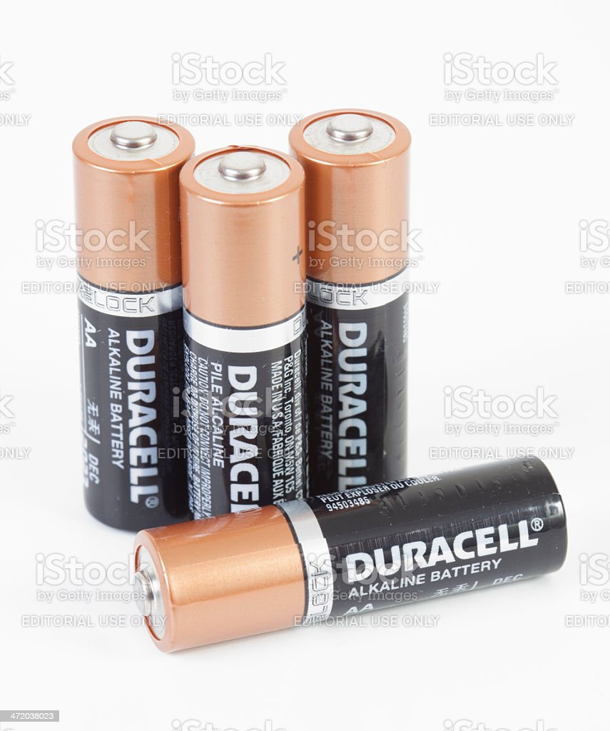Duracell Battery stock photo