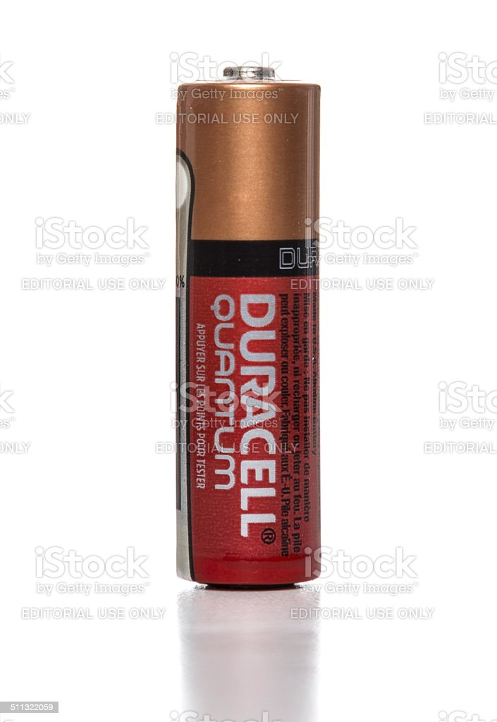 Duracell quantum AA battery stock photo