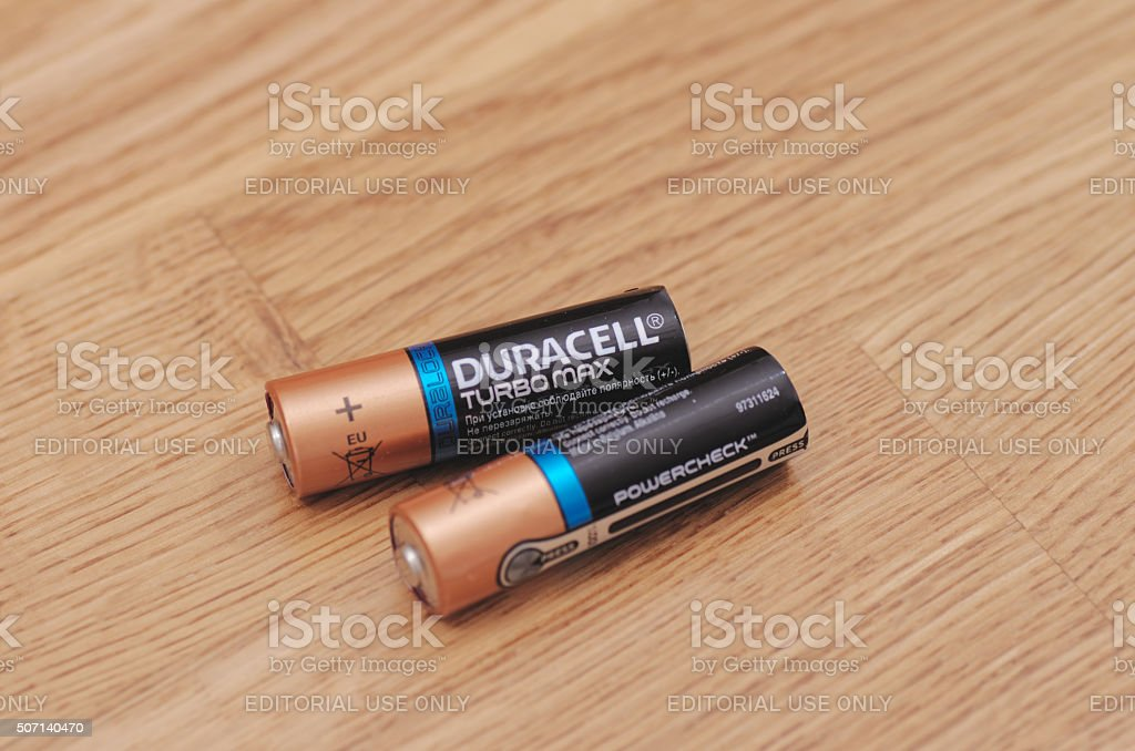 Duracell Turbomax stock photo