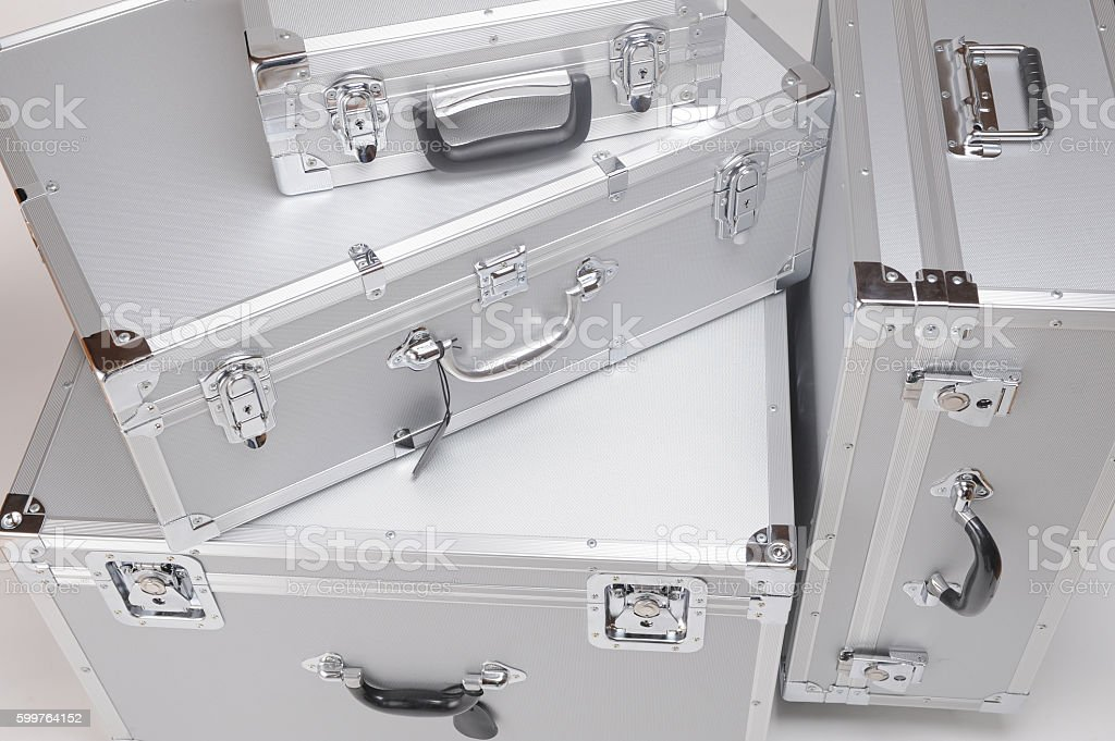 Duralumin cases stock photo